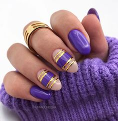 Fabulous Nails, Perfect Nails, Gorgeous Nails, Pretty Nails, Short Nail Designs, Nail Art Designs, Nails Design, Nagellack Trends, Sweater Nails