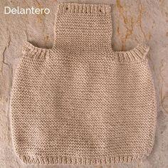 Cómo tricotar el delantero de un pelele de lana para bebé
