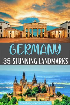 Planning a trip to Germany and need some destination inspiration? This is the ultimate guide to 30+ must see landmarks and attractions in Germany. Many of these famous German landmarks are UNESCO sites. They include some of the best things to see and do in Germany, from craggy castles to opulelnt palaces to towering cathedrals. With this Germany travel guide, you'll explore all the must visit sites and destinations in Germany. You can create your own bucket list or itinerary for Germany. Best Places To Travel, Places To Visit, Attractions In Germany, European Road Trip, Travel Through Europe, Hiking Europe, Germany Castles, Adventure Activities, Famous Landmarks