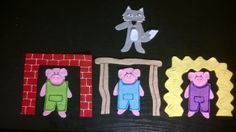 I don't think this flannel story needs any explanation… It's the Three Little Pigs! I currently have a really young group in my Evening Family Storytime, and I think they'll… Flannel Board Stories, Felt Board Stories, Felt Stories, Flannel Boards, Nursery Rhymes Preschool, Preschool Writing, Fairy Tale Theme, Fairy Tales, Fairy Tale Activities
