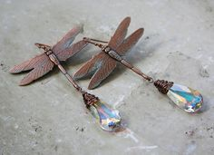 From the Gilded Dragonfly Mayflies copper and by GildedDragonfly, $37.00