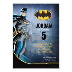 Batman | Happy Birthday Invitation Birthday Thank You, 60th Birthday, Birthday Cards, Surprise Birthday, Birthday Ideas, Birthday Parties, Birthday Gifts, Superman Happy Birthday, Custom Invitations