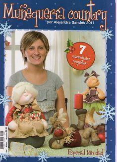 Album Archive - muñequeria country n Cross Stitch Magazines, Cross Stitch Books, Book Crafts, Hobbies And Crafts, Christmas Books, Christmas Crafts, Art Doll Tutorial, Sewing Magazines, Fabric Toys