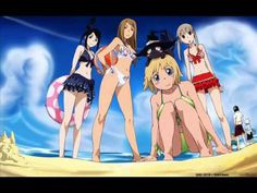 Liz,Patty,Tsubaki,Maka at the beach!