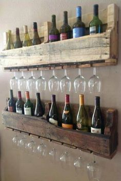 Wine and glass Rack made from pallets!