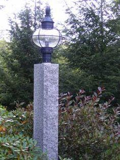 Caledonia Lamp Post Granite Lamp Post And Mailbox Post