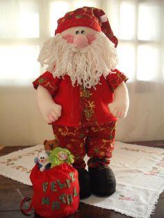 https://flic.kr/p/8LeuUf   Papai Noel Cristóvão   Mais criações minhas para o Natal/2010.Criação e execução Bonekika Artesanato