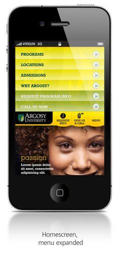 Argosy University - Mobile website by Aart Balk, via Behance