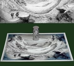 This Old Drawing Hides A Mind-blowing Secret…after you put a cylindrical mirror , you'll see Jules Verne portrait