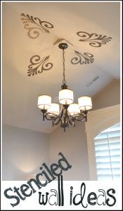Stenciled Wall Ideas- Will need this for nursery.