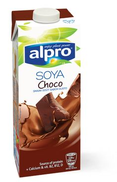 Alpro soya Drink Choco --> I love this! You can also heat it up and have it as dairy free hot chocolate! :)