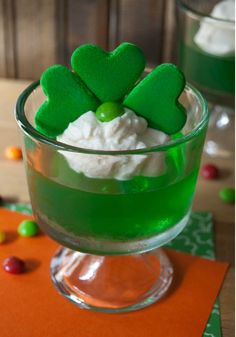 Marshmallow Shamrock JELL-O Cups – No special shamrock-shape cookie required to make these St. Patrick's Day-perfect gelatin cups. Just re-use your heart-shaped one from Valentine's Day!