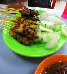 Chicken, beef or pork skewers, marinated over night then grilled to perfection…