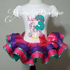 Cadance My Little Pony Ribbon Tutu Set by RenesBowtique on Etsy