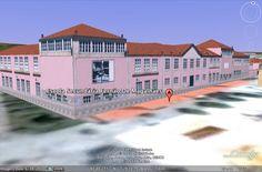 Modelação 3D da Escola Secundária Fernão de Magalhães, em Chaves.  Pode encontrar este nosso trabalho na camada earth do google maps.