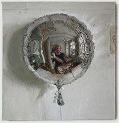 Self-portrait in a small silver balloon - James Lloyd Distortion Art, Ap Drawing, Art Alevel, Reflection Art, Balloon Painting, Portrait Art, Portraits, A Level Art, Ap Art