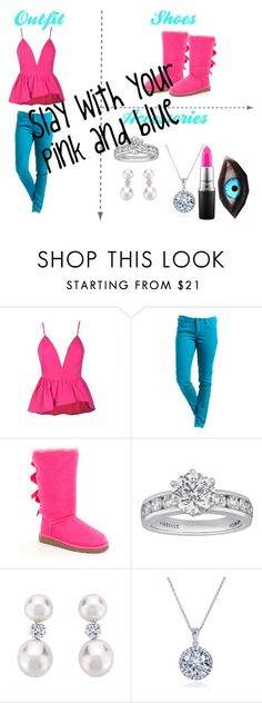 """You betta rock yo pink and blue"" by keke554 ❤ liked on Polyvore featuring Ally Fashion, Rip Curl, UGG Australia, Tiffany & Co., Kobelli and MAC Cosmetics"
