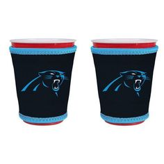 Carolina Panthers NFL Drink Cooler Kup Holders- 2 Pack