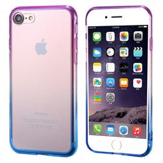 Ultra Thin Gradient Colorful Soft TPU Frame Crystal Clear Acrylic Back