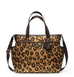 Cheetah print Coach diaper bag not really feeling the print but mark my words I WILL have a coach baby bag lol