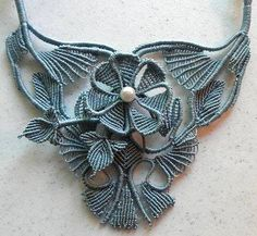 Micro-macrame jewelry by Jeanne Wertman                                                                                                                                                     More