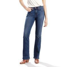 Women's Levi's® Slimming Bootcut Jeans, Size: 16/33SHORT, Med Blue