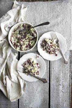 Cauliflower Avocado Salad with pomegranate