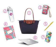 The Pink and Green Prep: What's in my Bag: College Edition