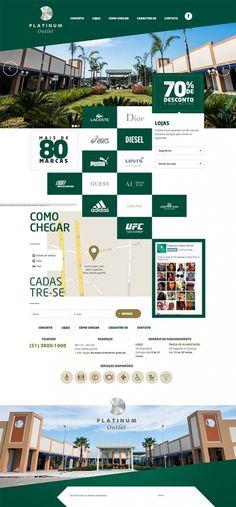 #website criado pela @gampi para o Platinum Outlet #web #design #digital #outlet