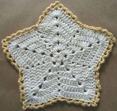 #286 Christmas Star Crochet Dishcloth – Maggie Weldon Maggies Crochet