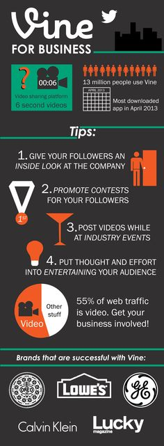 #Vine for #Business #Infographic