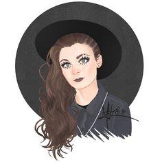 Lynn Gunn from Pvris. design, illustration