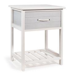 Nachttisch aus Holz weiß B 30 cm OLERON