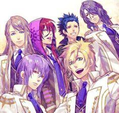 Top: Balder, Loki, Takeru & Hades Bottom: Tsukito & Apollon
