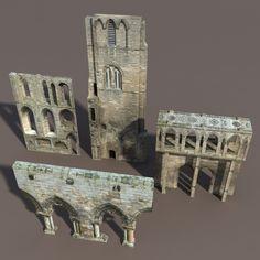 Afbeeldingsresultaat voor castle 3d asset set