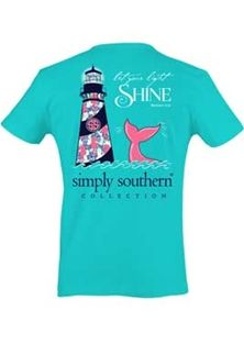 Simply+Southern+Preppy+Collection+Lighthouse+T-shirt+for+Women+in+Pool+PRPSHINE-POOL