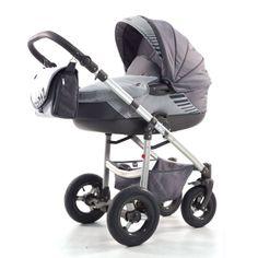 Kočárek Jumper Light plastová korbička, šedá Children, Kids, Baby Strollers, Jumper, Aqua, Fabric, Green, Kids Wagon, Young Children