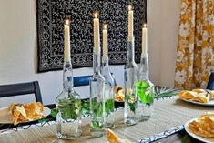 Simple Candle Centerpiece - 40 Beautiful DIY Easter Centerpieces to Dress Up Your Dinner Table