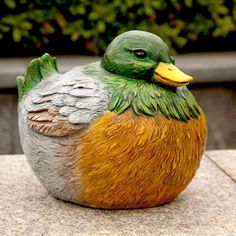Medium Mallard Portly Statue by Evergreen Enterprises, Inc. $19.95. Hand Painted Resin. Non-porous to prevent cracking, chipping and peeling. Made with a mixture of poly resin composite. Weather Resistant. EG841646 Features: -Made of high quality resin.-Exclusive design. Dimensions: -Dimensions: 8.46'' H x 9.25'' W x 7'' D.. Save 16% Off! Garden Statues, Garden Sculptures, Evergreen Enterprises, Outdoor Gardens, Hand Painted, Mallard, Outdoor Decor, Resin, Outdoors