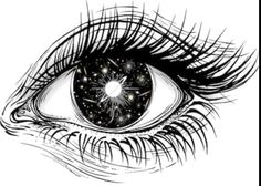 Comets Isolated vector illustration of realistic human eye of a girl with universe of stars, comets, galaxies and deep black space iris. Galaxy Drawings, Space Drawings, Space Artwork, Ink Pen Drawings, Star Tattoos, Body Art Tattoos, Realistic Tattoo Sleeve, Lion Tattoo Sleeves, Black Ink Art