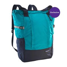 The Patagonia Lightweight Travel Tote Pack is a versatile, lightweight and durable tote that can be carried by hand, over the shoulder or backpack style.