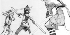 ahsoka vs obi wan and anakin by dstyler088
