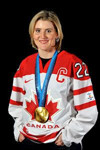 Hayley Wickenheiser is a Canadian Ice Hockey player on Canada's National women's team.As an Olympian, she earned a silver medal at the 1998 Winter Olympics and three Olympic gold medals in 2002, 2006 and most recently at the Vancouver 2010 Winter Olympics. Here is the link to her page on the classroom champions website: http://www.classroomchampions.org/person/144/Hayley-Wickenheiser