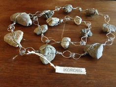 Large Natural Stone Rain Chain Hand Wire Wrapped by IKOROSE