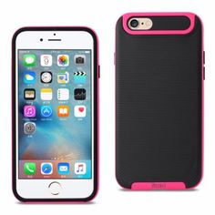 Reiko Iphone 6/6S 4.7Inch Protector Cover Black Hotpink