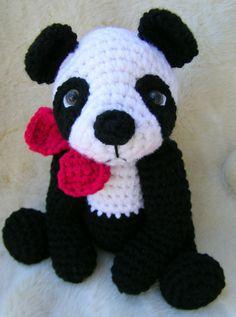 crocheted+panda+pattern | Teri Crews Designs: New Panda Bear Crochet Pattern