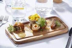 A platter of Yorkshire perfection! #DevonshireArms #DevonshireLife #food #foodie #lunch #localproduce #Yorkshire #YorkshireDales #BoltonAbbey #hotel #brasserie #travel #pork #scotchegg #blackpudding