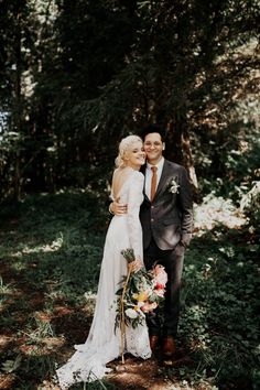 This bohemian backyard wedding in the PNW is the definition of dreamy | Image by India Earl