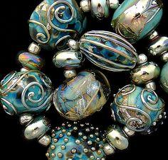 DSG Beads Handmade Organic Lampwork Glass Made To by debbiesanders, $135.00