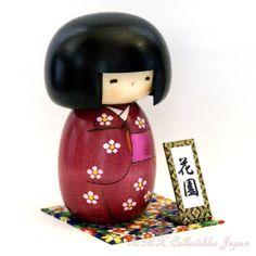 Creative Kokeshi Doll HANAZONO (FLOWER GARDEN) by Usaburo